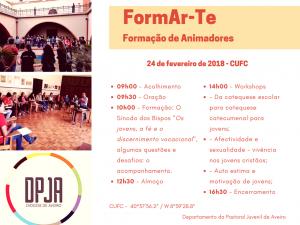 FORMAR-TE | FORMAÇÃO DE ANIMADORES @ CUFC