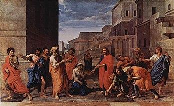 JESUS, A SÓS, COM A MULHER ADÚLTERA