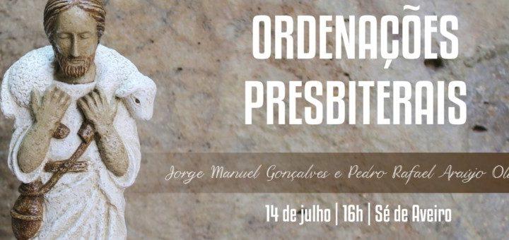 Ordenações presbiterais na Diocese de Aveiro
