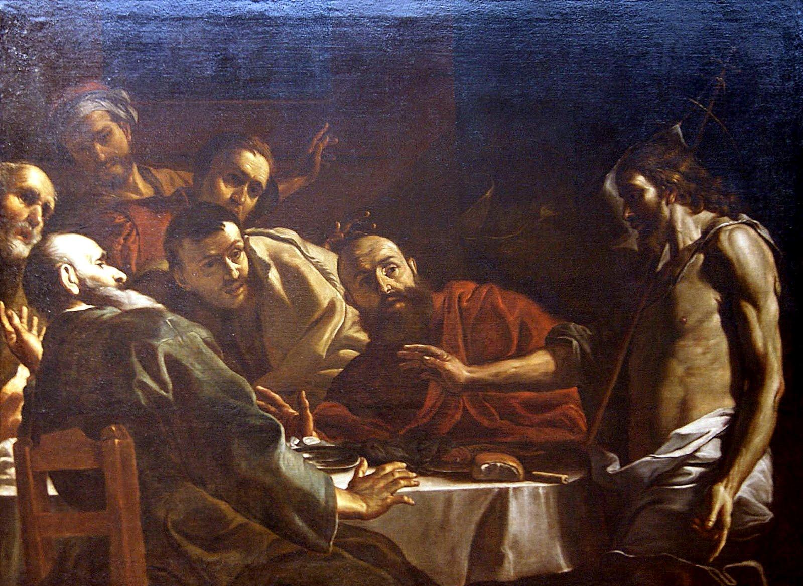 Cristo recucitado en el Cenáculo-Mattia Preti, 1675-Donación Peralbo Godoy