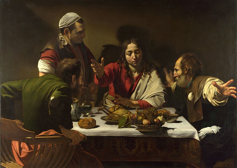 800px-1602-3_Caravaggio,Supper_at_Emmaus_National_Gallery,_London