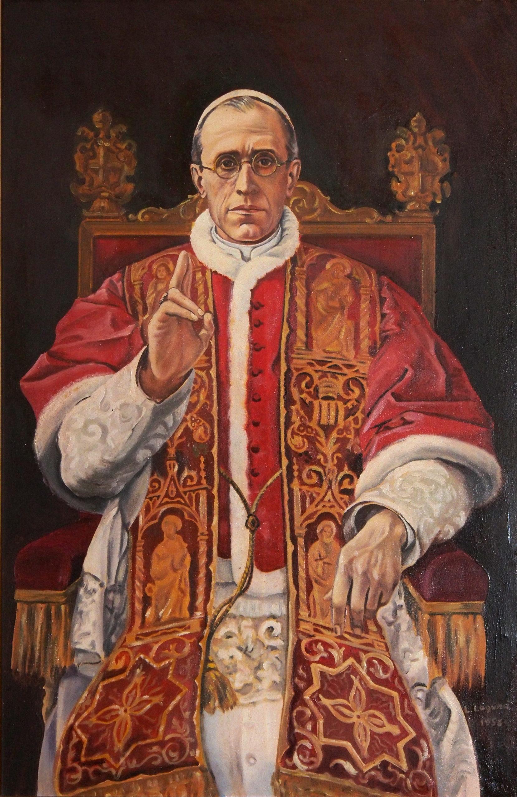 Pio_XII_-_Luis_Fernández-Laguna_1958