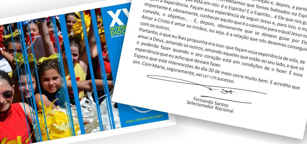 Seleccionador Nacional dá autografo aos alunos de EMRC de Aveiro
