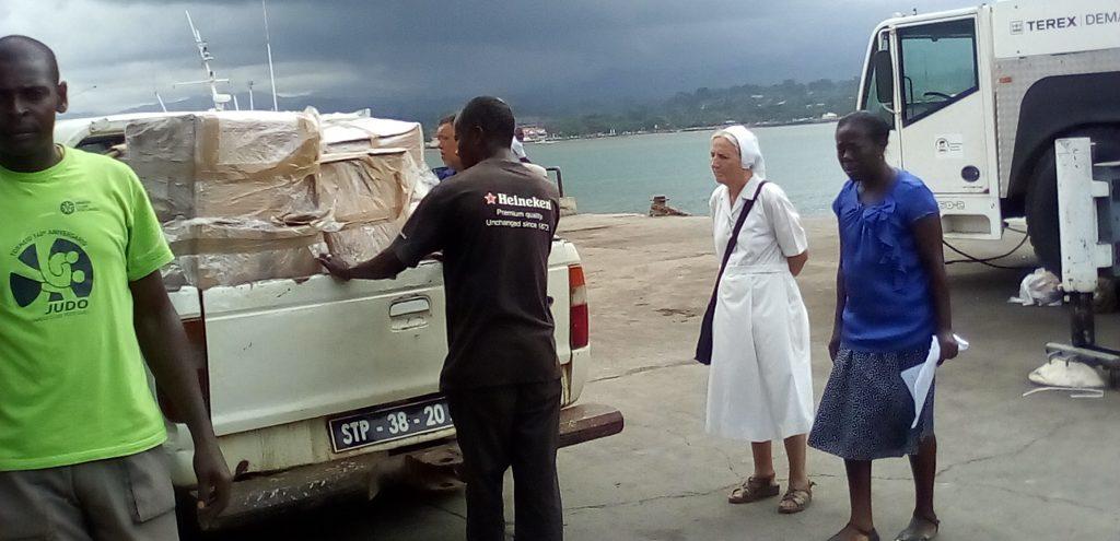 Chegada a S. Tomé e Príncipe